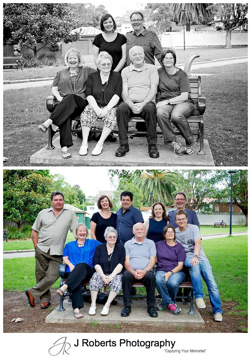 Extended Family Portrait Photography Sydney Family Christmas Celebrations Fun with 4 generations Dulwich Hill